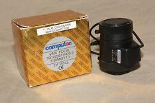 COMPUTAR VARI FOCAL 5-50mm F/1.3 TV LENS TG1020513FCS-2 W/ CAPS & BOX 9072
