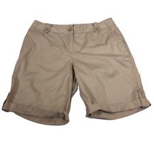 Talbots Beige Khaki Stretchy Shorts Women's Size 10
