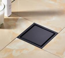 2020 SUS 304 Waste Drainer Bathroom Square Shower Floor Drain Trap Matte Black