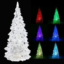 Mini Color Changing Icy Crystal LED Christmas Tree Decoration Light Night Light