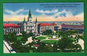 LOUISIANA - NEW ORLEANS, JACKSON SQUARE SHOWING CABILDO VINTAGE  PC 118