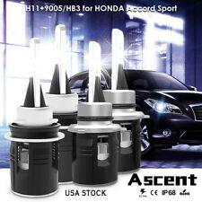 H11 9005 HB3 CREE LED Headlight Kit Bulbs Power For Honda Accord Sport 2017-2016