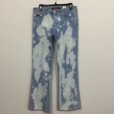 Baby Phat Size 7 Distressed Faded Flare Jeans