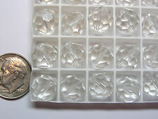 144 PIECES VINTAGE SWAROVSKI BEADS #5300 10MM CRYSTAL - FACTORY PACKAGE