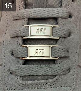 ❤️ Neue Nike Air Force 1 Schnallen Accessoires Silber Lace Locks 2 Stück✅