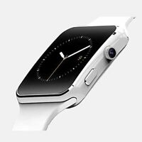 Bluetooth Smartwatch Camera Touchscreen Impermeabile SIM Card Android Bianco