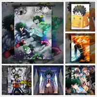 Boku no My Hero Academia Midoriya Bakugou Shoto Poster Scroll Home Decoration