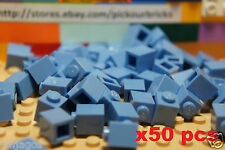 LEGO 3005 Medium Blue 1 x 1 BRICKS 1x1 Building Blocks - Quantity x 50 Pcs