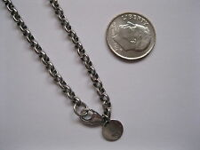 "New Waxing Poetic Sterling Silver Medium Rolo 24"" Chain Necklace - 3mm - $167"