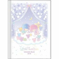 Sanrio 2018 Little Twin Stars Monthly Planner Diary A6 Kiki & Lala Schedule