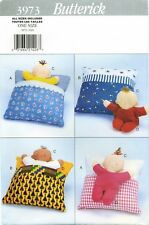Butterick 3973 Two Faced DOLL with Goodnight Pillow 14 inch sewing pattern UNCUT
