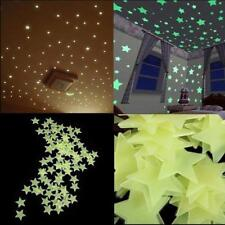 100 PCS Glowing Wall Stickers Star Theme Home Bedroom Home Decoration Fluorecent