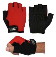 Half Finger Cycling Gloves Bike Bicycle Gel Padded Fingerless Cycle Gloves Red