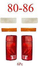 80 86 Ford 6Pc Clear Front Parking Light, Side Fender Light & Tail Light Set NIB