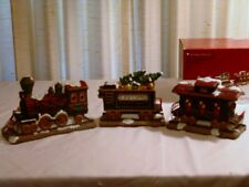 "ST NICHOLAS SQUARE VILLAGE COLLECTION ACCESSORY ""3 PIECE TRAIN SET"""