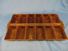 "Antique cast iron muffin pan bakewear 12"" x 7"" corn bread rolls mold decor"
