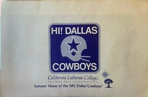 1973 DALLAS COWBOYS training camp poster, autographed by Roger Staubach, Walton