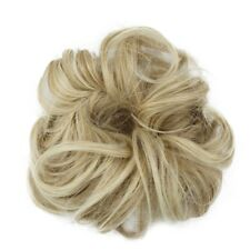 Real Natural Curly Messy Bun Hairpiece Scrunchie Hair Extensions as Human Style