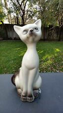 VINTAGE SIAMESE Cat Figurine, ~1958, JAPAN, 9¼""