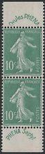 "FRANCE STAMP YVERT 188 "" SOWER 10c GREEN PHENA LABEL PAIR "" MNH XF C736"