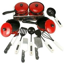 Vintage PreSchool Baby Child Toy Cooking Chef Mini Kitchen Pretend Play Set 13Pc