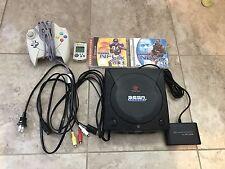 RARE Sega Dreamcast Sports Edition Black w/ NBA 2K & NFL 2K