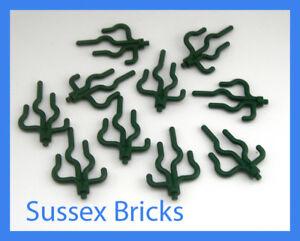 Lego Plant - 10x Dark Green Sea Grass Algae Cactus Kelp Vine 30093 - New Pieces