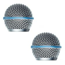 2 PCS Ball Head Mesh Microphone Grille Windscreen for Shure SM58 Beta58A SM58S
