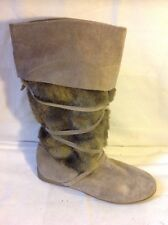 New Look Brown Mid Calf Suede Boots Size 6