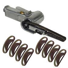10mm Air Finger Belt Sander And 50 Belts 330 x10 Power File Detail Sander Berg
