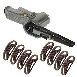 10mm 330 x 10mm Wide Air Finger Belt Sander Power File Detail Sanding + 50 Belts