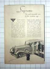 1935 Alvis Supreme Cars From £490 Complete