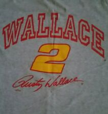 Rusty Wallace Simulated Autograph, WALLACE #2 Vintage Muscle Shirt/Tank Top!