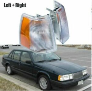 Pair Corner Marker Turn Light Signal Side FIT For Volvo 960 940 740
