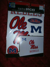 LAPTOP STICKERS OLE MISS REBELS