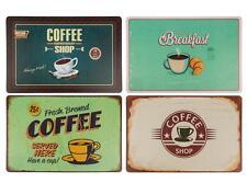 Tischset Coffee Kaffee Platzdeckchen Tischmatten Platzmatten Vintage Retro 4er