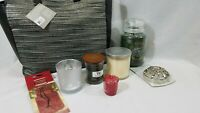 New 9 pc Yankee Candle Tote Bag $100 value Balsam cedar Frasier fir cookie jar