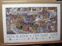 Seek & Find the bike tour 1995 vintage poster 13626