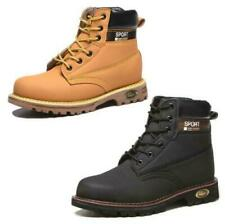 Black Tan Brown Mens High Top Steel Toe Safety Shoes Work Boots Sports Hiking UK