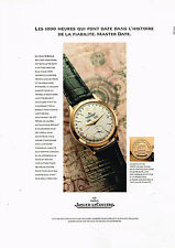 PUBLICITE ADVERTISING 114  1997  JAEGER-LECOULTRE collection montre MASTER DATE