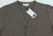 Men's TURNBURY Taupe Merino Wool Cardigan Sweater L Large NEW NWT F45SR750