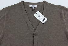 Men's TURNBURY Taupe Merino Wool Cardigan Sweater XL XLarge NEW NWT F45SR750