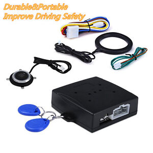 Car SUV Engine Push Start Button RFID Lock Ignition Starter Driving Security Kit