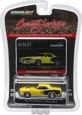 `71 Plymouth HEMI Cuda Yellow 1971 **Greenlight Barrett Jackson 1:64 OVP