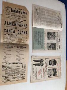 1936-1937 Cuban Baseball Scorecard Collection St Louis Cardinals New York Giants