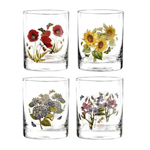 Portmeirion BGZY5407-XP Botanic Garden Double Old Fashioned Tumbler Floral Glass