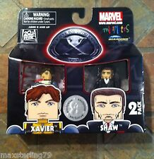 Marvel Minimates XAVIER & SHAW X-Men First Class Movie TRU Wave Exclusive