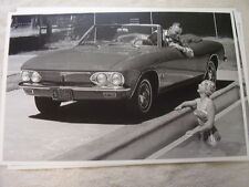 1965  CHEVROLET CORVAIR CONVERTIBLE       11 X 17  PHOTO  PICTURE