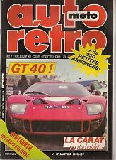 "AUTO RETRO 17 FORD GT40 MERCEDES 500 SEL ""CARAT DUCHATELET"" PORSCHE 914 TUCKER"
