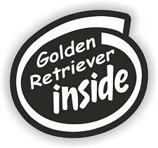 Sticker of Golden Retriever Dog Inside for Bumper Travel Laptop Tablet Suitcase